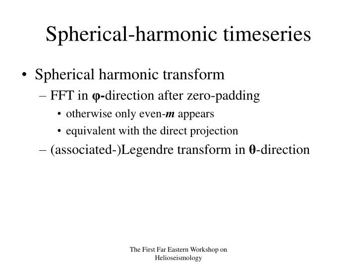 Spherical-harmonic timeseries