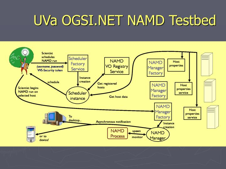 UVa OGSI.NET NAMD Testbed