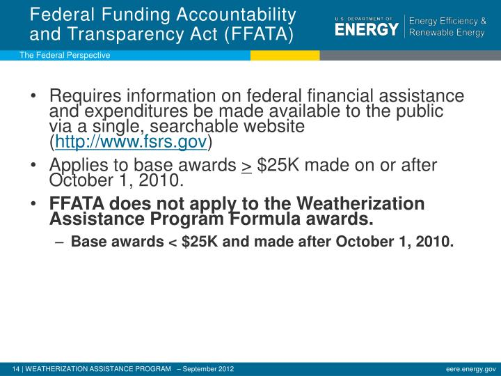 Federal Funding Accountability and Transparency Act (