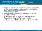 federal funding accountability and transparency act ffata