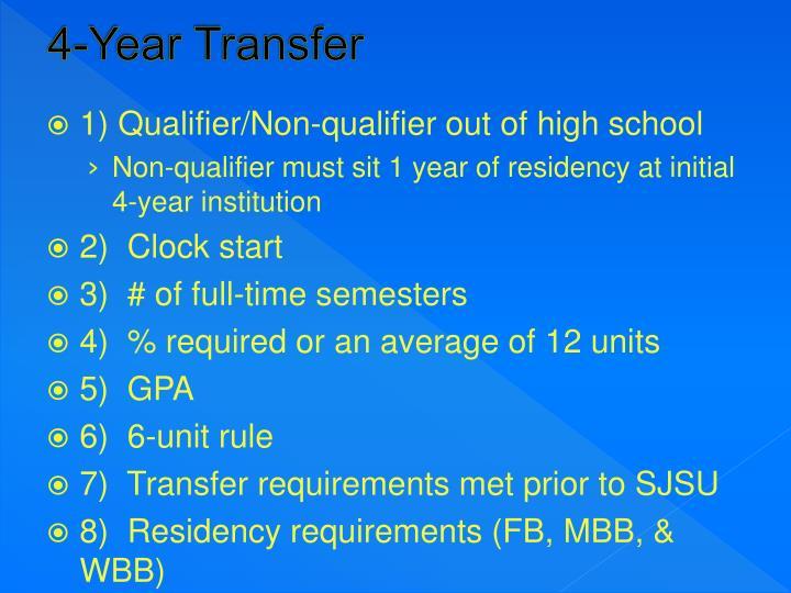 4-Year Transfer