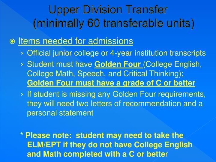 Upper Division Transfer