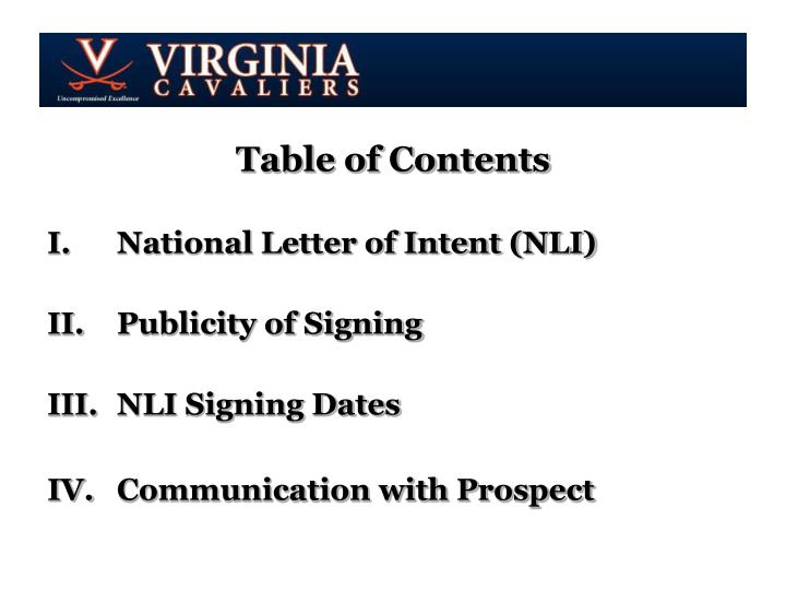 Dating letter of intent