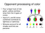 opponent processing of color1