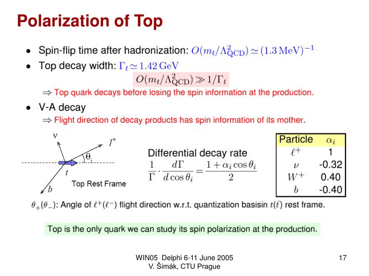 Polarization of Top