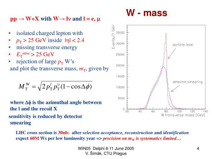 W - mass