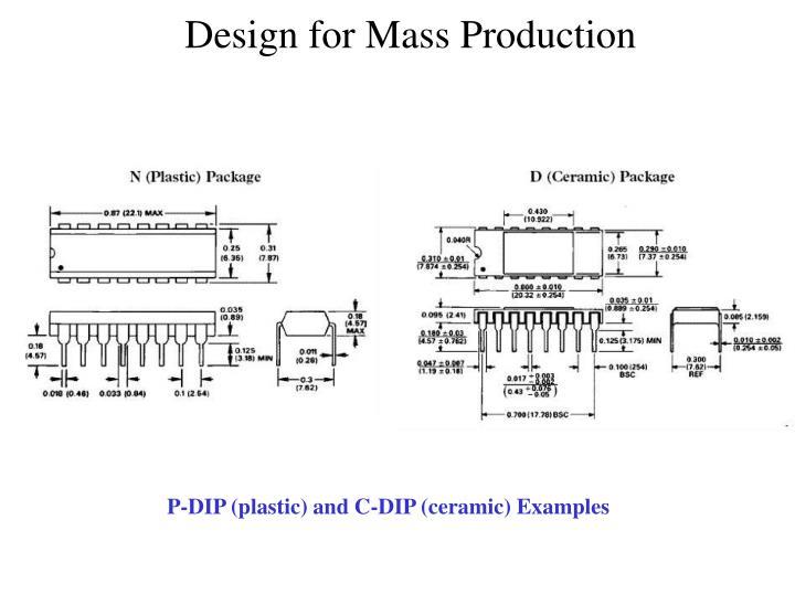 P-DIP (plastic) and C-DIP (ceramic) Examples