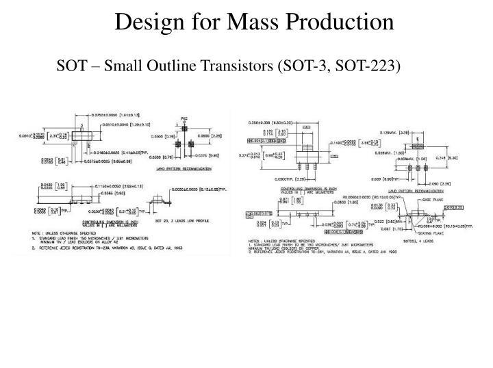 SOT – Small Outline Transistors (SOT-3, SOT-223)