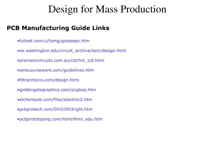 PCB Manufacturing Guide Links