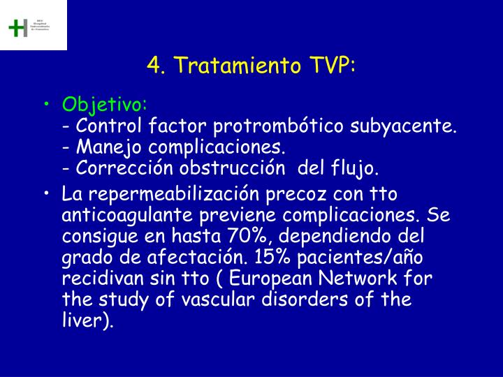 4. Tratamiento TVP: