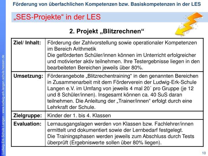 """""""SES-Projekte"""" in der LES"""