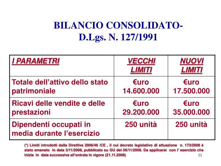 BILANCIO CONSOLIDATO-