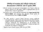 obbligo di nomina del collegio sindacale documento cndcec del 15 aprile 2009