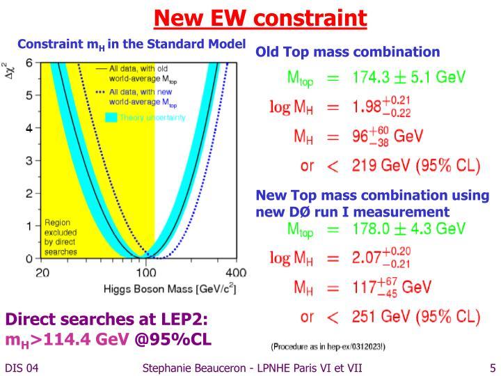 New EW constraint