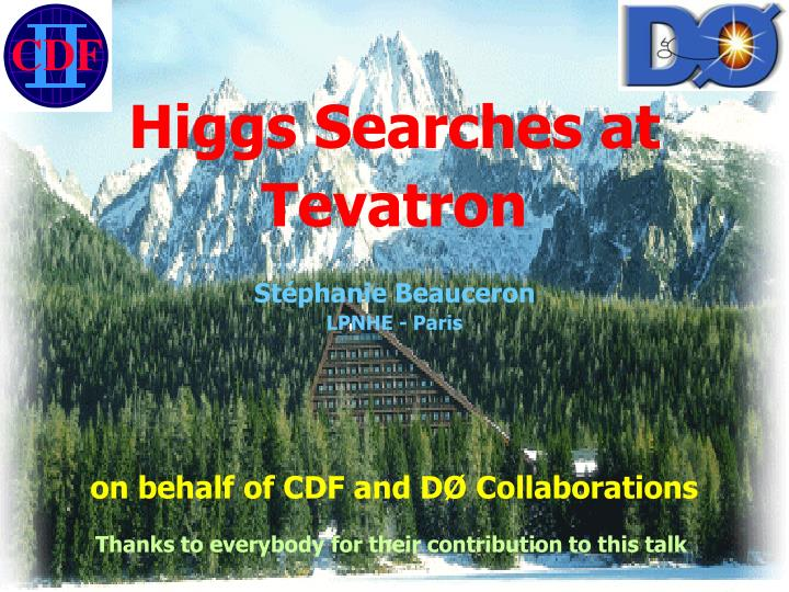 Higgs Searches at