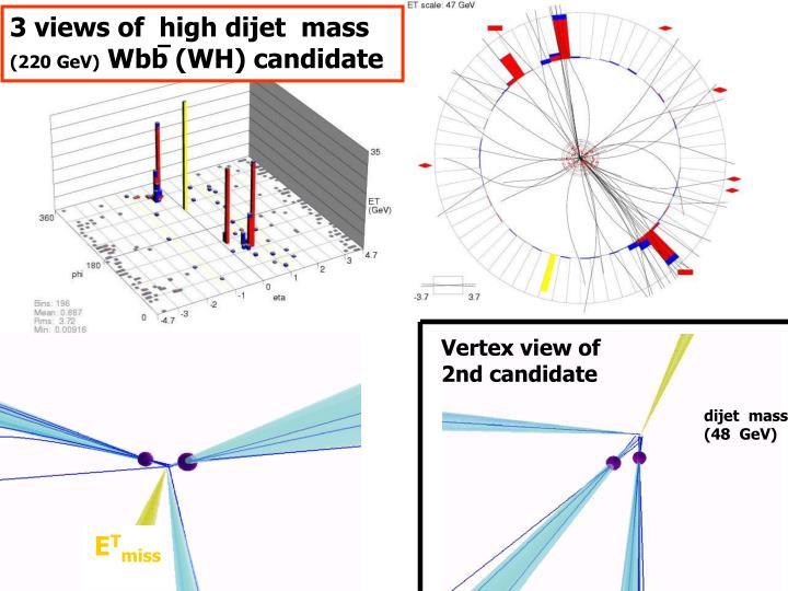 3 views of  high dijet  mass