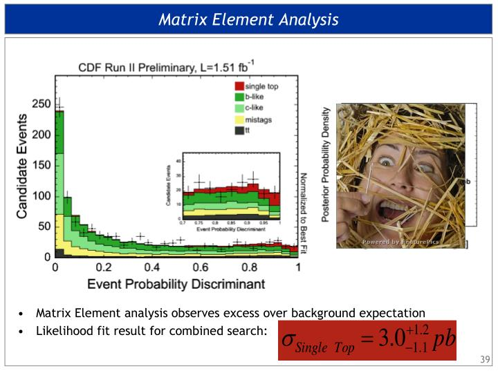 Matrix Element Analysis