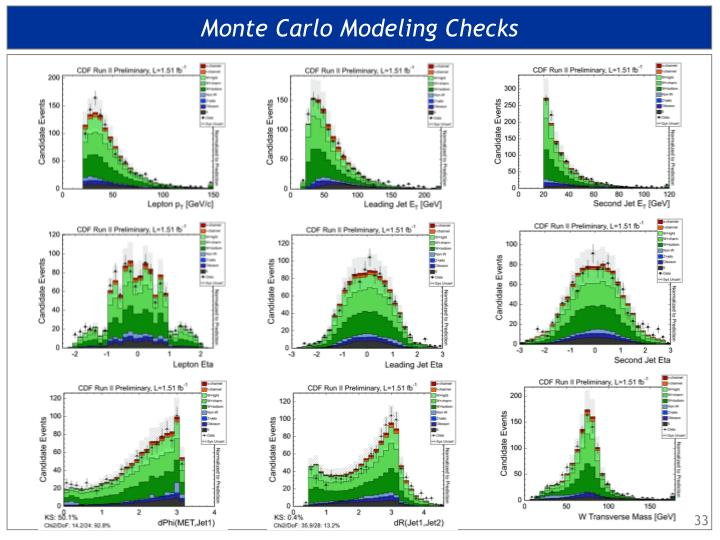 Monte Carlo Modeling Checks
