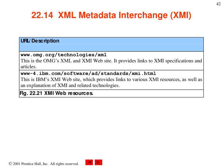22.14  XML Metadata Interchange (XMI)