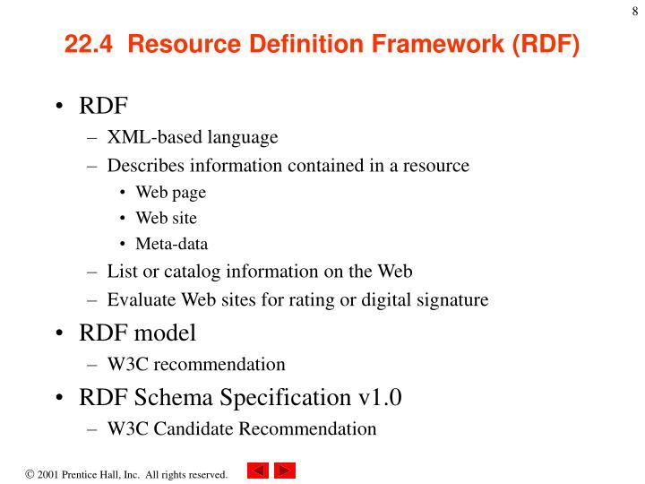 22.4  Resource Definition Framework (RDF)