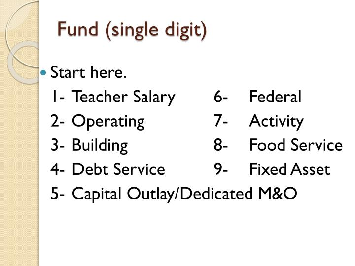 Fund (single digit)