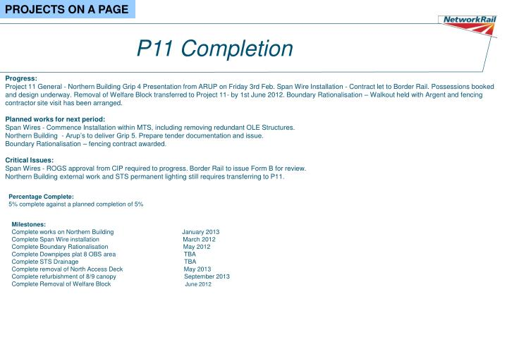P11 Completion