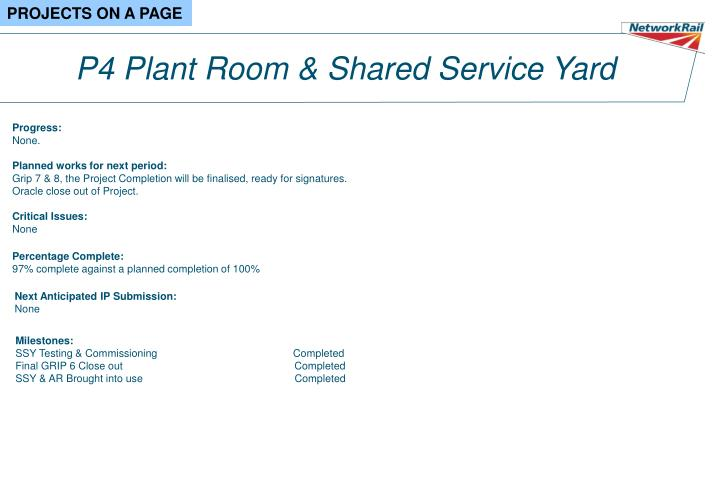 P4 Plant Room & Shared Service Yard