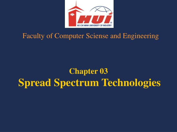 Chapter 03 spread spectrum technologies