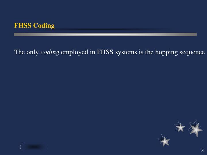FHSS Coding