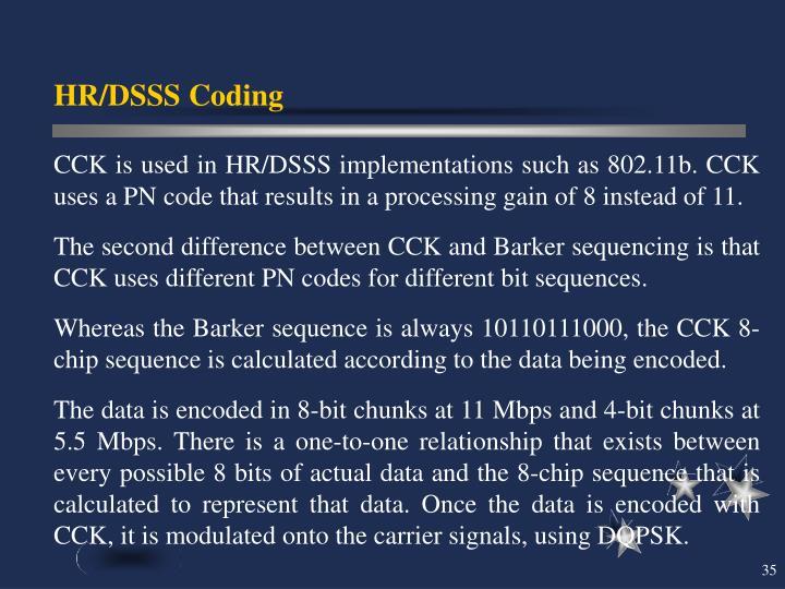 HR/DSSS Coding