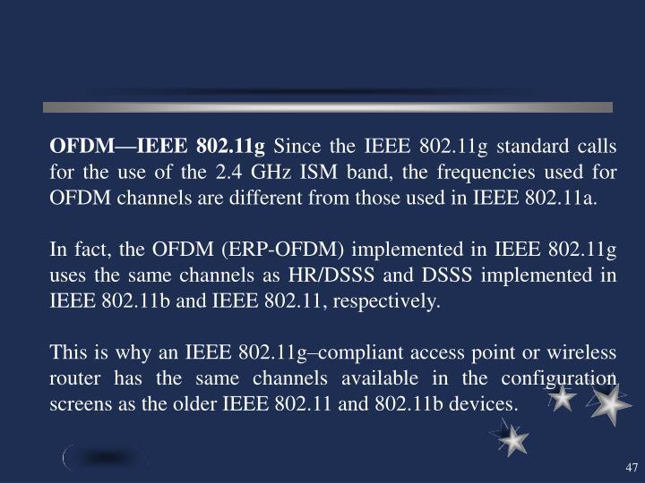OFDM—IEEE 802.11g