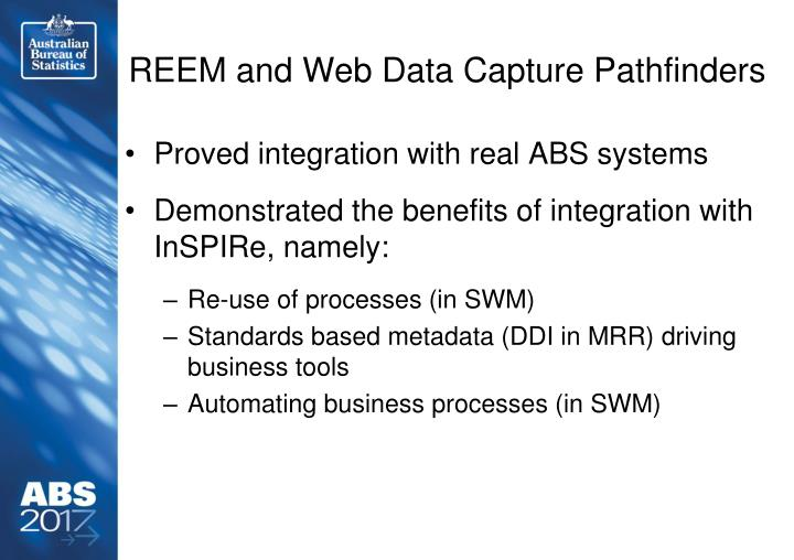REEM and Web Data Capture Pathfinders