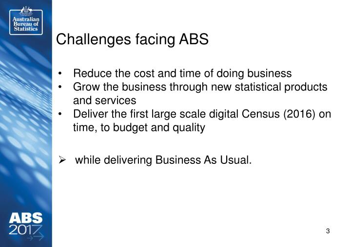 Challenges facing ABS