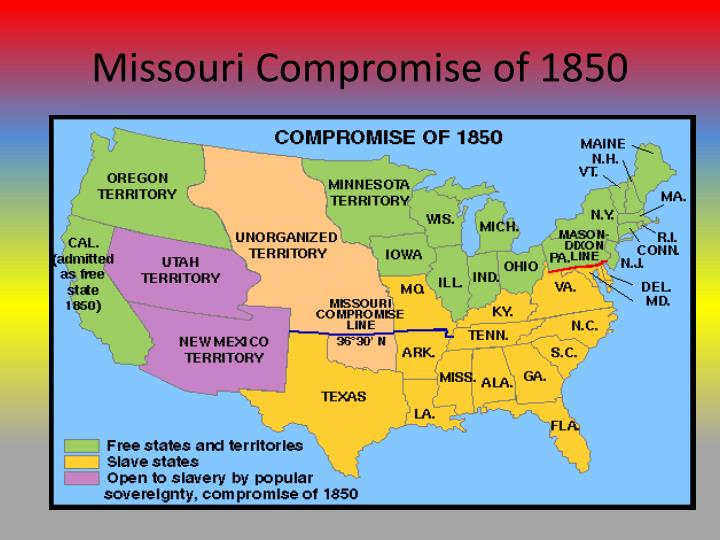Missouri Compromise of 1850