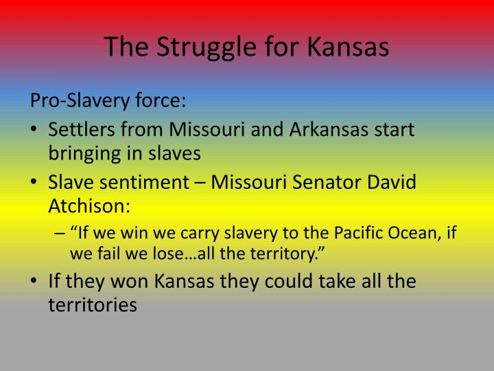 The Struggle for Kansas