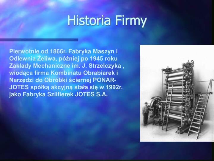 Historia Firmy