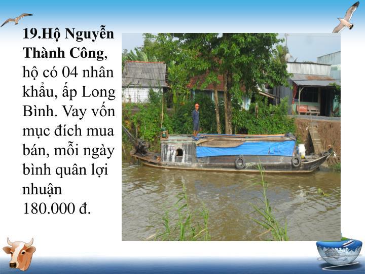 19.Hộ Nguyễn Thành Công
