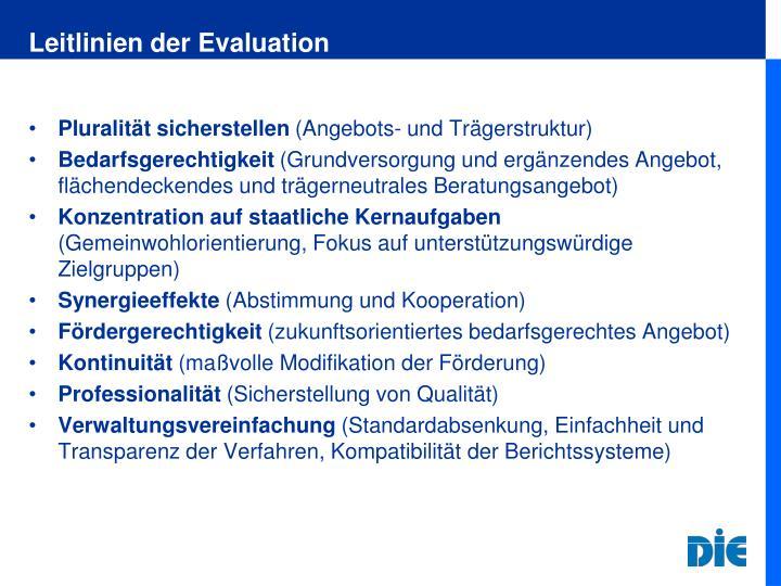 Leitlinien der Evaluation