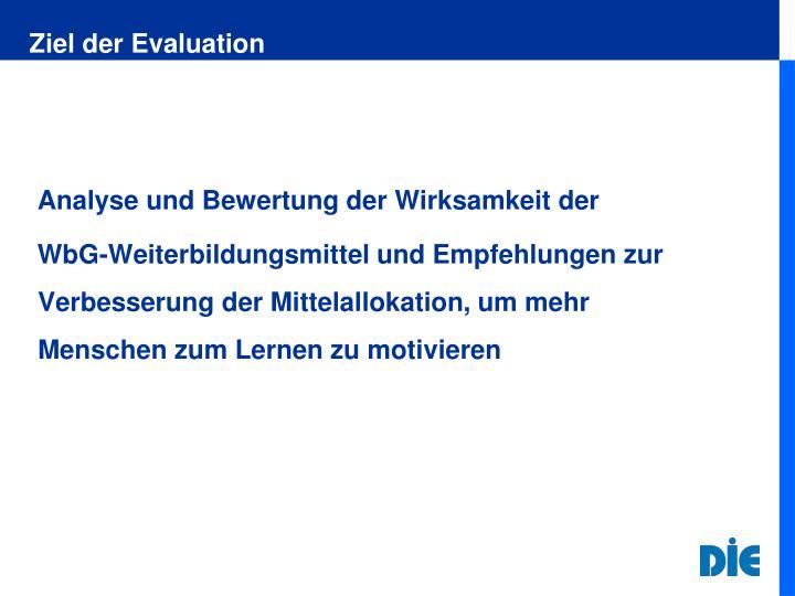 Ziel der Evaluation