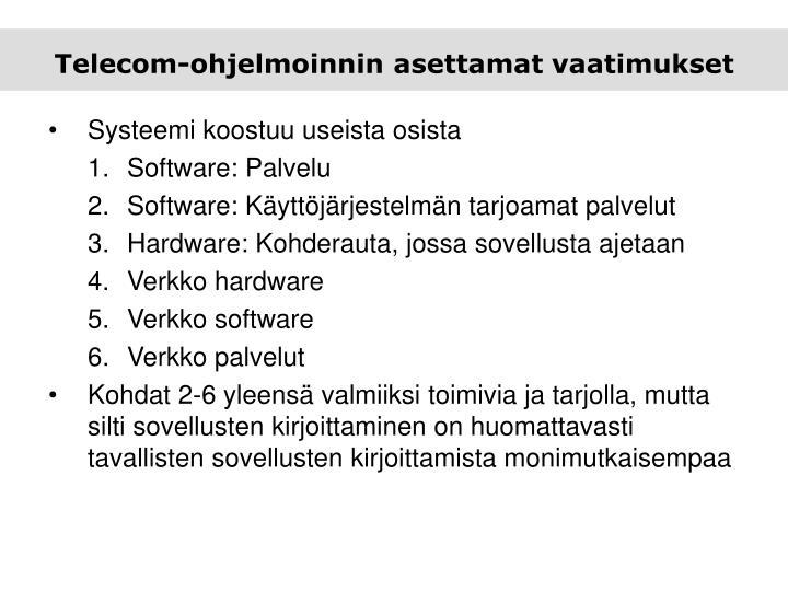 Telecom-ohjelmoinnin asettamat vaatimukset