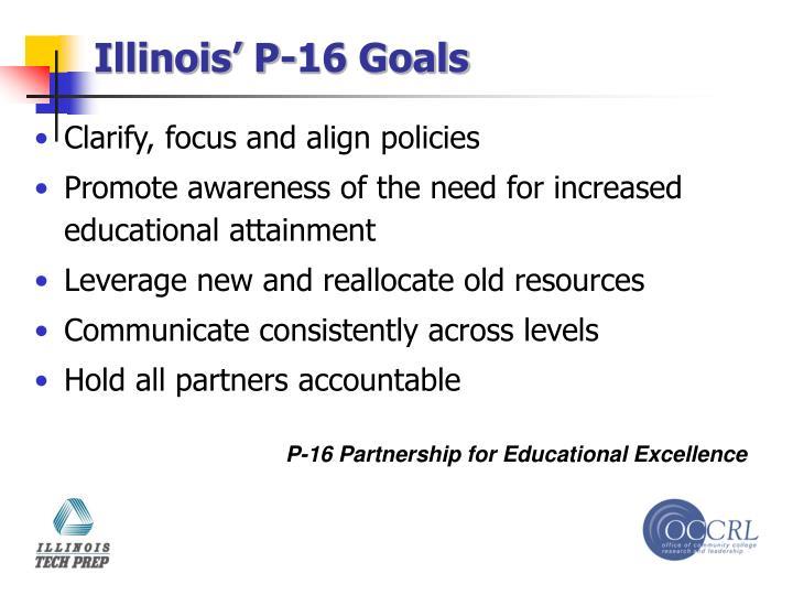 Illinois' P-16 Goals