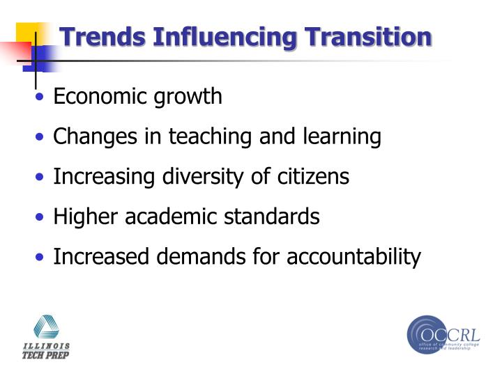 Trends Influencing Transition