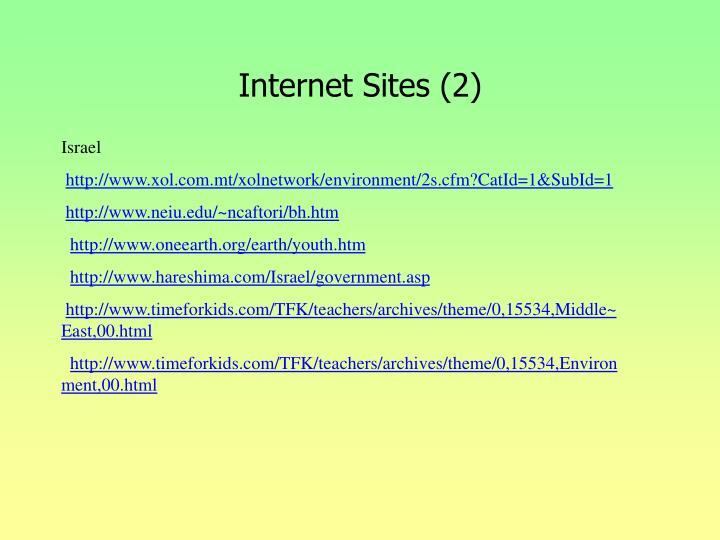Internet Sites (2)