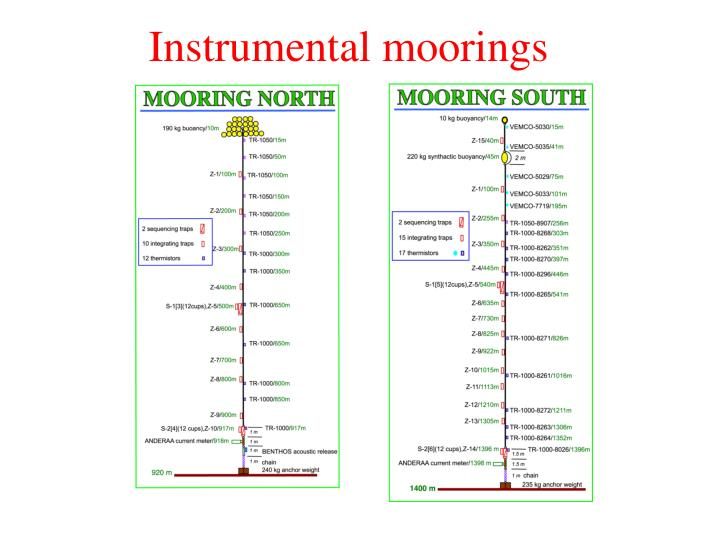 Instrumental moorings