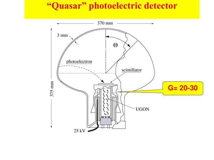"""Quasar"" photoelectric detector"