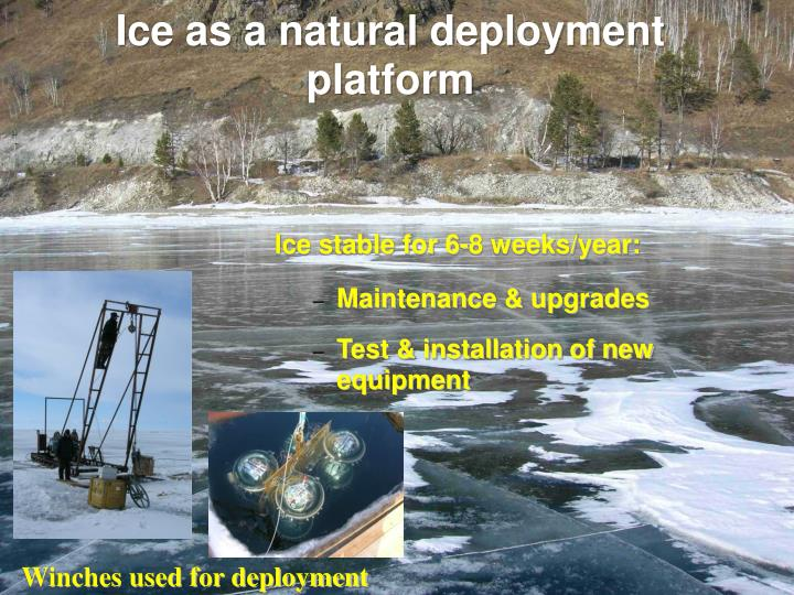Ice as a natural deployment platform