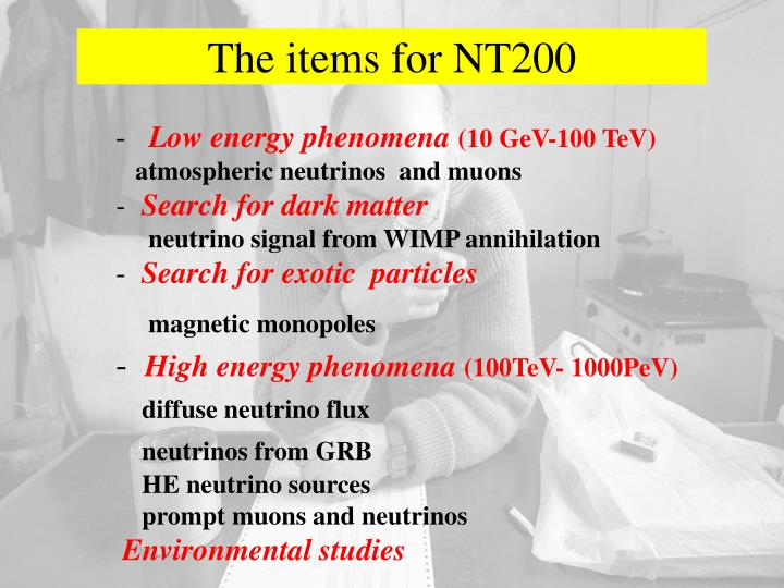 The items for NT200