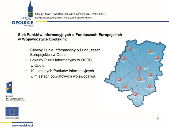 Sieć Punktów Informacyjnych o Funduszach Europejskich