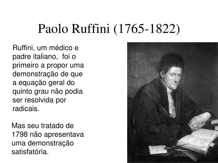 Paolo Ruffini (1765-1822)
