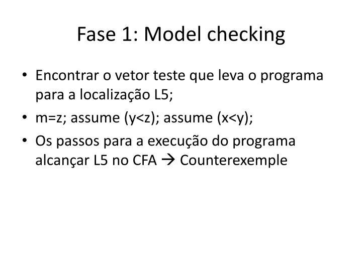 Fase 1: Model checking